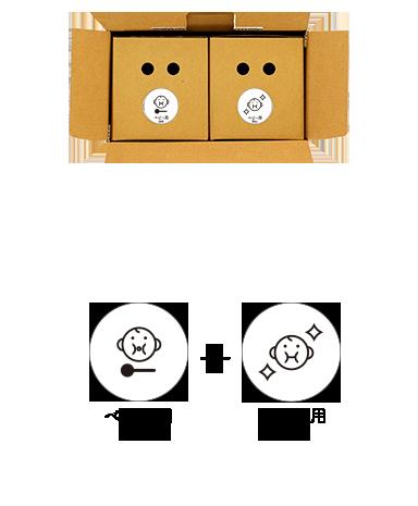 防災備蓄セットbibo(ビーボ)のベビー用ユニット