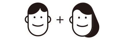 防災備蓄セットbibo(ビーボ)の男性+ベビー+女性の組み合わせ