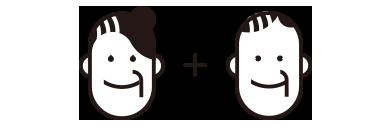 防災備蓄セットbibo(ビーボ)のシニア+シニアの組み合わせ